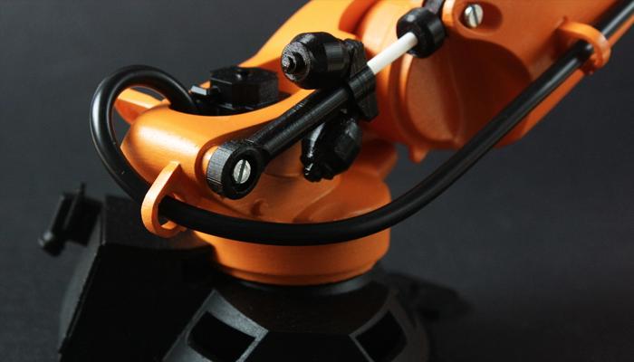 Zortrax's Orange device with black parts