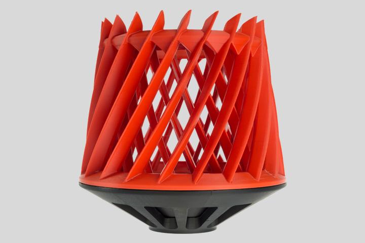 3D printed orange helix