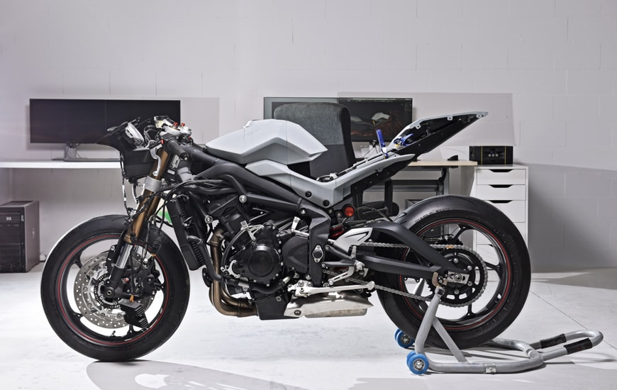 Motorcycle standing in the modern garage