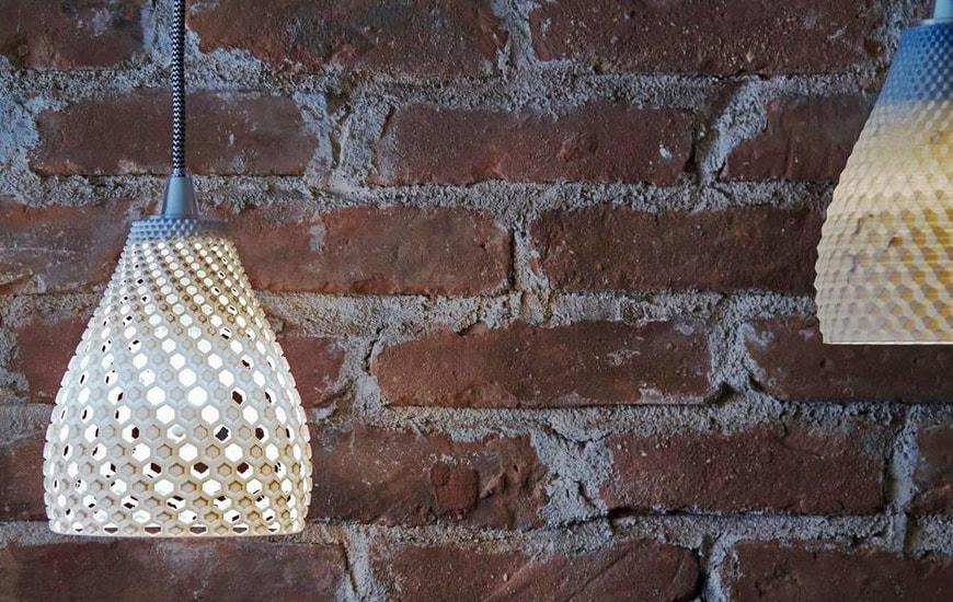 Modern 3D printed lampshades