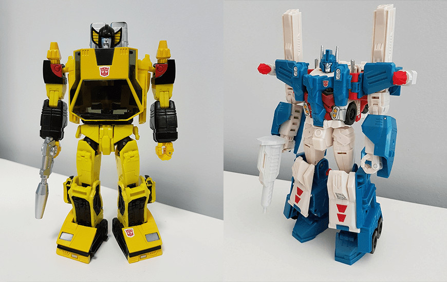 Two models of a 3D printed robot