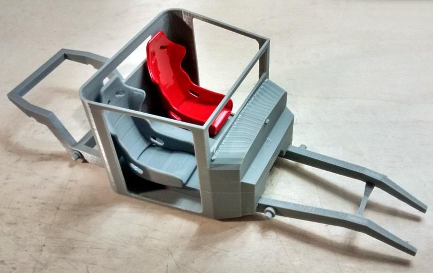 Parts of 3D printed car