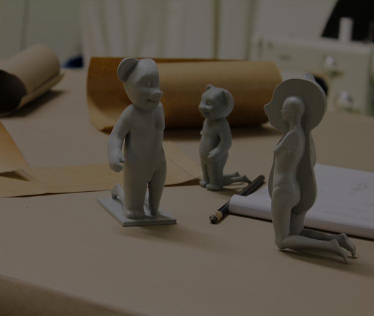 ZORTRAX 3D printed bear kafel